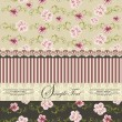 ストックベクタ: Vintage floral invitation card