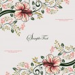 Royalty-Free Stock Vector Image: Invitation vintage card with floral ornament