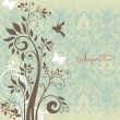 Beautiful vintage floral card - Vektorgrafik