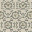 Vintage floral background, pattern - Stok Vektör