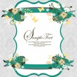 Vintage damask invitation card - Vektorgrafik