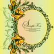 Vector ornate frame with floral elements - Vektorgrafik