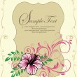 Ornate floral frame, invitation card - Stok Vektör