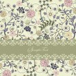 Floral invitation card with place for text - Vektorgrafik