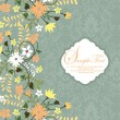 Beautiful vintage floral card — Stockvektor