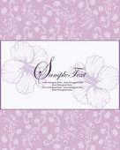 Invitación floral púrpura — Vector de stock