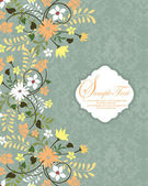 Beautiful vintage floral card — Stock Vector