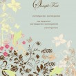 Invitation vintage card with floral ornament — Stockvectorbeeld