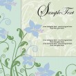 Wedding card or invitation with abstract floral background — Stok Vektör
