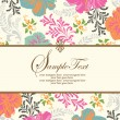 Invitation or wedding card with abstract floral background — Stock Vector