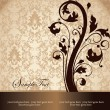 Brown damask card — Grafika wektorowa
