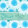 Blue floral bridal shower card — Stok Vektör