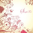 Set of four floral invitation card — Vektorgrafik