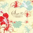 Set of four floral invitation card — Grafika wektorowa