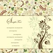 Set of four floral invitation card — Image vectorielle