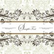 Stock Vector: Wedding Invitation Card
