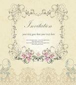 花卉邀请卡 — 图库矢量图片