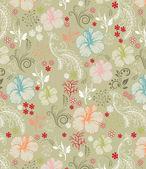 Floral seamless pattern, vector design — Stockvector
