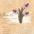 Vintage damask invitation card — Image vectorielle