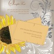 Sunflower Wedding Invitation. — Vettoriali Stock