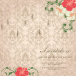 Floral invitation card — Image vectorielle