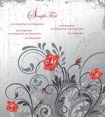 Damask swirly invitation card — Stock Vector