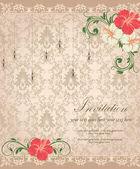 Floral invitation card — Διανυσματικό Αρχείο