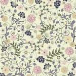 Floral seamless pattern, vector design — Stock Vector #6654184