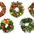 Christmas wreaths — Stock fotografie