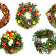 Christmas wreaths — Stock Photo