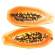Halved papaya — Stock Photo