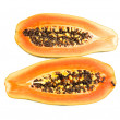 Halved papaya — Stock Photo #13147884