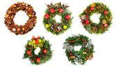 Christmas wreaths — Stock Photo