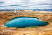Viti is a beautiful crater lake of a turquoise color located on the North-East of Iceland, at Krafla geothermal area near the lake Myvatn HDR — Stock Photo