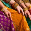 Bollywood dancers dress - Stock Photo