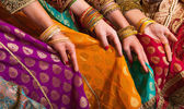 Bollywood dancers dress — Foto Stock