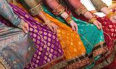 Vestido de dançarinos de bollywood — Foto Stock