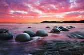 Moeraki boulders — Stock Photo