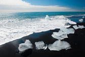 Beach with icebergs — Stock Photo