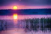 Sunset over Kanieris lake — Stock Photo