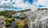 Pohutu and Prince of Wales geysers  — Stock Photo
