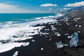 Beach with icebergs — Stock Photo