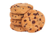 Choc Chip Cookie Isolated on white. — Stock Photo