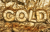 Gold sign — Stock Photo