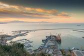 Busy harbor of Salerno, Italy — Stock Photo