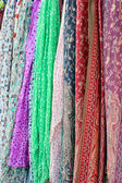 Colorful silk scarfs — Stock Photo
