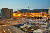 Acciaroli village from the harbor — Stock Photo