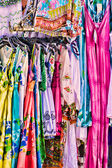 Women's colorful summer dresses — Stock Photo