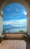 Mount Vesuvius and Gulf of Naples, Italy — Stock Photo