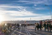 Seafront promenade, Naples, Italy — Stock Photo
